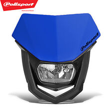 PoliSport Headlight Blue MX Halogen Dirtbike Moto DOT CE ECE Yamaha