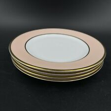 Set of 4 Lauren Ralph Lauren Hampton's Tea Peach Salad Dessert Plates Ne
