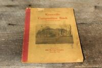 Vintage Antique 1930s Composition Studant Notebook Knoxville Tennessee Used