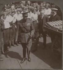 His Majesty Inspecting Shells at Holmes & Co. Munition Works, Hull - Stereoview