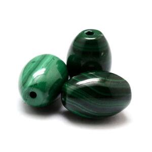 5pcs Natural Malachite Stone Beads Smooth Barrel Loose Gemstones Beading 14x10mm