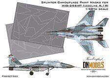 Splinter Camo Mask set for MiG-29SMT 9-19 for 1/48 GWH L4818 by DN Models