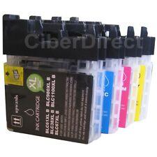 4 compatible BROTHER LC-1100 BK/C/M/Y printer ink cartridges - VAT INVOICE.