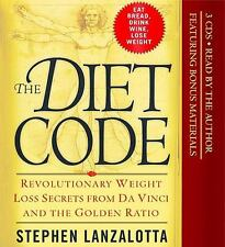 Diet Code by Stephen Lanzalotta (Audio Book, 3/CDs) New/Sealed Free Shipping !!!