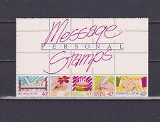 S18085) New Zealand MNH Neu 1988 Personal Message 5v Im Booklet