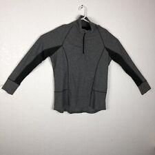 Champion Pull Over Woman's Jacket Black& Gray 1/4 Zip Thumb Holes SZXXL/2TG C219