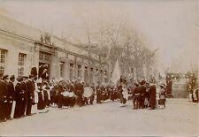 Militaire c. 1900 - 4 Photos Caserne Cérémonie Fête - 4