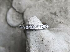Platinum 12 Diamond Set Eternity Wedding Band Ring (.36 ct approx, size L)