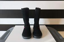 Skechers Girls Black Winter Mid Top Zip Boots Size 13
