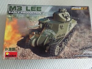 Miniart 1:35 M3 Lee Early w/ interior, Plastic Model . .Kit 35206...parts sealed
