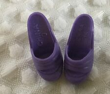 Barbie Size Clothes - Pair Of Purple High Heel Shoes