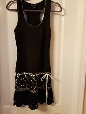 Moda International Crochet Black & White Dress Medium