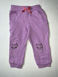 Preowned- Toughskins Graphic Sweatpants Girls (Size 2T)