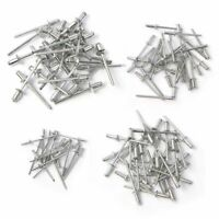 100pc Rivet Assortment Kit Set Hand & Air Pop Riveter Guns 1/8 5/32 3/16 x 5/16