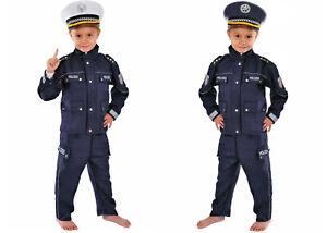 Polizei Kinder Kostüm für Fasching Karneval Polizist 98 104 110 116 122 128 140