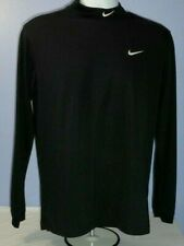 Men Nike Golf Tour Performance Dri-Fit Black Long Sleeve Pullover S