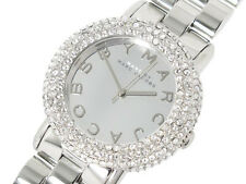 MARC JACOBS MARCI SILVER TONE,CRYSTALS,STAINLESS STEEL BRACELET WATCH MBM3190