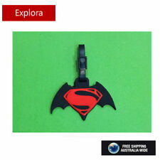 BATMAN VS SUPERMAN NAME TAG, IDENTITY LABLE FOR LUGGAGE, SCHOOL BAG