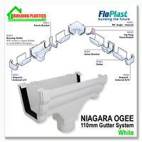 FLOPLAST NIAGARA OGEE GUTTER & FITTINGS WHITE | 110mm NIAGARA GUTTER SYSTEM