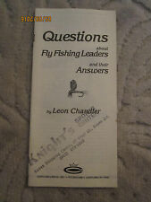 Vtg brochure Questions about Fly Fishing Leaders by Leon Chandler, Cortland Line