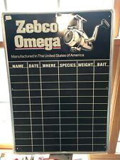 Zebco omega Vintage Aluminum Sign, Fishing, Fishing Tournament,