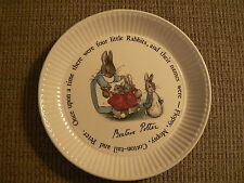 Beatrix Potter Peter Rabbit Wedgwood Plate/Bowl And Book