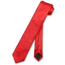 """Vesuvio Napoli Narrow NeckTie Solid Color Paisley 2.5"""" Skinny Men's Neck Tie"""