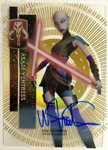 #48/50 NIKA FUTTERMAN as ASAJJ VENTRESS GOLD autograph Topps STAR WARS HIGH TEK