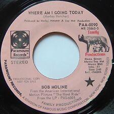 BOB MOLINE: WHERE AM I GOING TODAY rare DJ 45 on PARAMOUNT hear