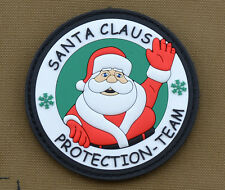 """PVC / Rubber Patch """"Santa Claus Protection Team"""" with VELCRO® brand hook"""