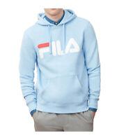 Men's FILA Logo Hoodie Sweatshirt Jacket BLUE NEW