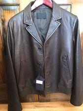 $2450 Men's Prada Leather Jacket
