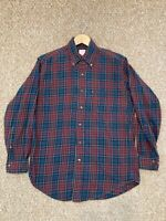 BROOKS BROTHERS Men's 346 Plaid/Flannel Button Up Dress Shirt Long Sleeve