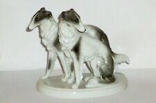 Alte Bock Wallendorf Windhunde Figur Porzellanfigur Hund Greyhounds Barsoi dogs