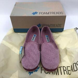 NIB Foamtreads Debbie Dusty Rose comfort slippers  size 7.5 M