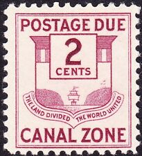 Canal Zone - 1932 - 2 Cents Claret Canal Zone Seal Postage Due Issue # J26 Mint