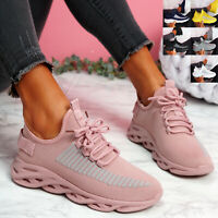 WOMENS LADIES SPORT SNEAKERS CHUNKY TRAINERS LACE UP WOMEN PARTY SHOES SIZE