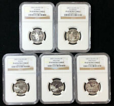 2003 S Silver State Quarters 25C Set Slabbed NGC PF 69 ULTRA CAMEO 5 Coins B2a