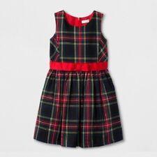 Cat & Jack Girls' Tartan Classic A Line Dress Plaid Wowzer Red XS 4/5 NWT