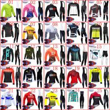 2020 hombres para Ciclismo Jersey de invierno pantalones de peto 9D Set lana térmica ropa de Bicicleta de carretera