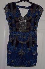 Women's Angie Blue Romper Dress XL NWT