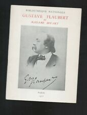 Gustave Flaubert et madame Bovary Catalogue Bibliothèque Nationale 1957