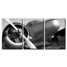 "Wall26 - Vintage Twin Engine Airplane - Canvas Art Wall Decor - 24""x36""x3 Panels"