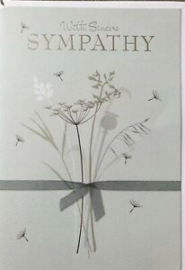 WITH SINCERE SYMPATHY - SYMPATHY CARD