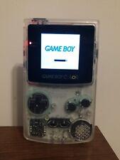 Nintendo Gameboy Color Backlit Mod Clear White GBC Glass Lens