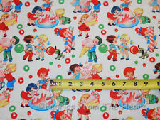 Retro Candy Shop Kids Sweets YARDS on Cream off White Michael Miller Cotton Fabr
