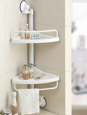 Corner storage Shelf for Kitchen and Bathroom plastic wall suction easy install