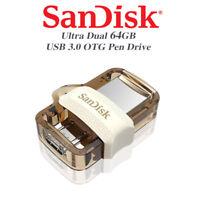 SANDISK GOLD ULTRA DUAL DRIVE micro3.0 / USB 3.0 64Go Stockage De Données