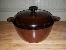 Visions Cookware: Corning Glass 4qt bean sauce Dutch Oven/Pot pan & Lid