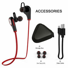 Bluetooth Earphone Headphone Q9 V4.1 + EDR Built-in Mic Earbuds Sports Gym Red